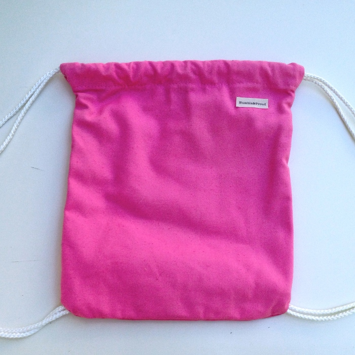 Pink Canvas Knapsack